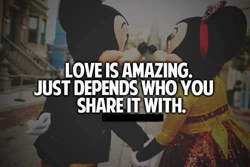 love is amazing, just depends who you share it with:)