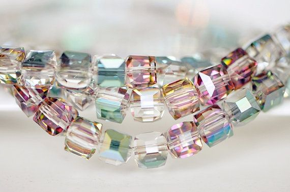 Czech Crystal Glass Faceted Round Beads 4mm Clear 90 Pcs Art Hobby Jewellery