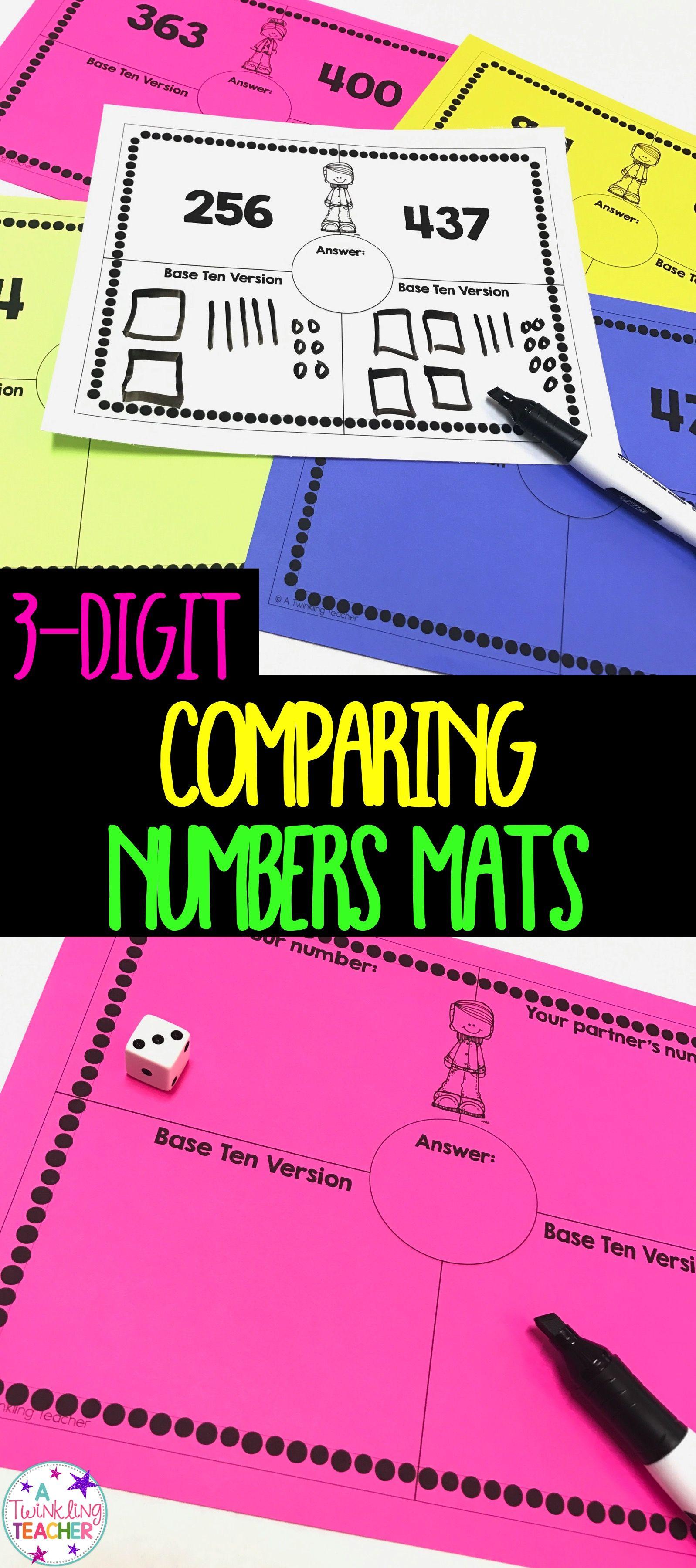 Comparing 3 Digit Numbers Mat