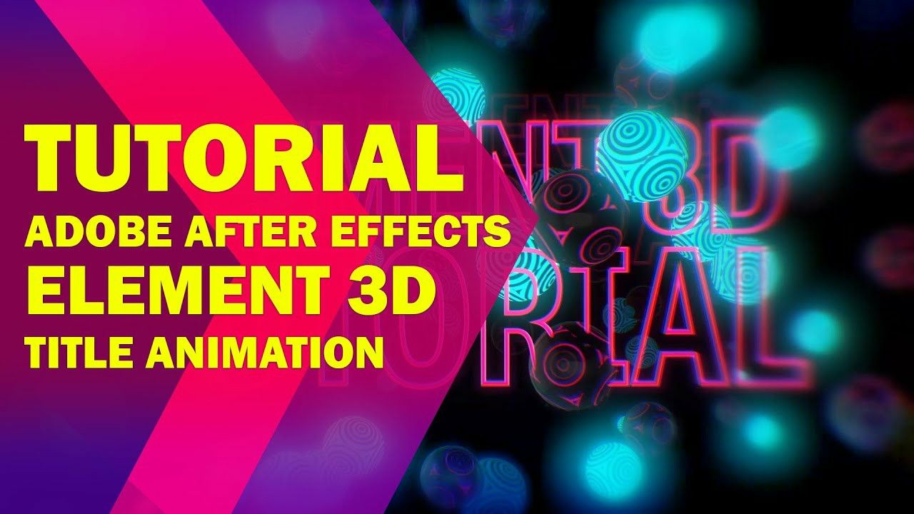 Element 3d Tutorial In 2020 After Effect Tutorial Optical Illusions Animation