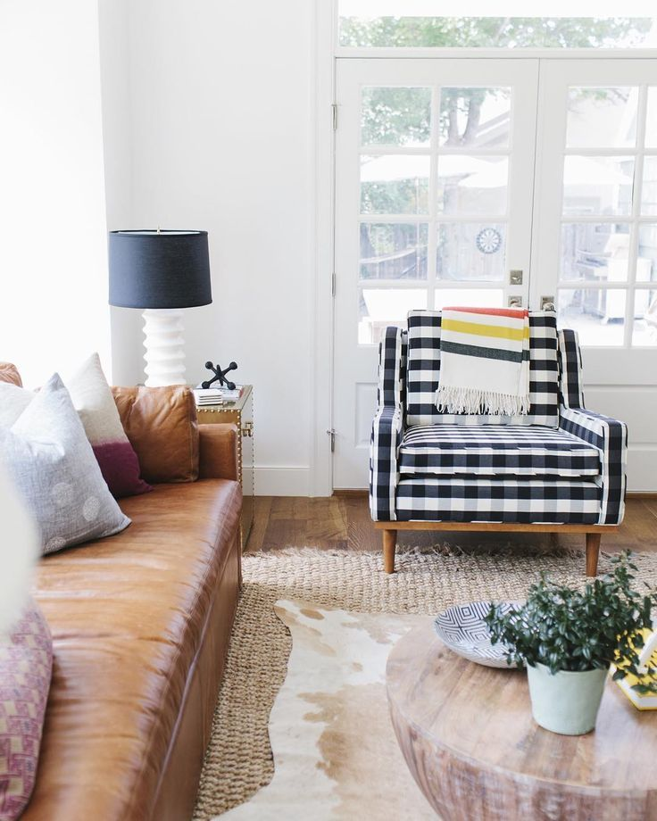 Excellent Jack Chair In Windowpane Plaid Black And White Buffalo Dailytribune Chair Design For Home Dailytribuneorg