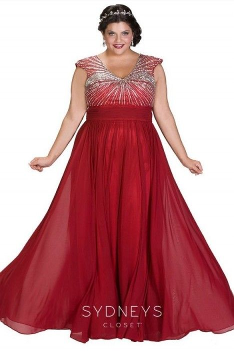 7c111b04951 Sydneys Closet SC7214 Plus Size Flattering Prom Dress in 2019 | 2019 ...