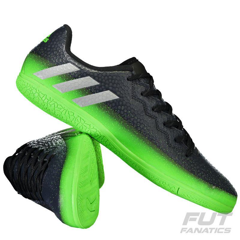 645aa307da9 Chuteira Adidas Messi 16.3 IN Futsal Preta Juvenil Somente na FutFanatics  você compra agora Chuteira Adidas