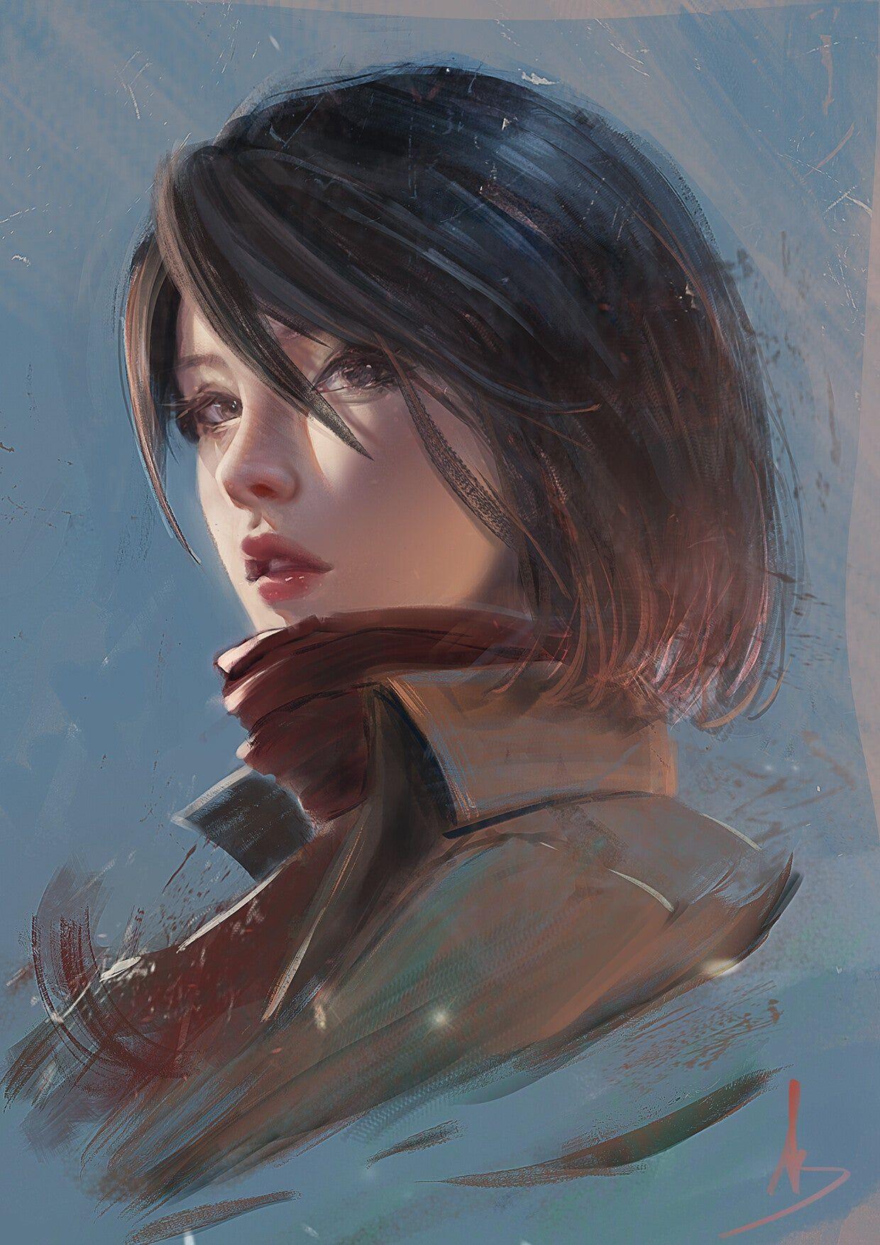 Mikasa Ackerman : ShingekiNoKyojin | Gambar anime, Gambar ...