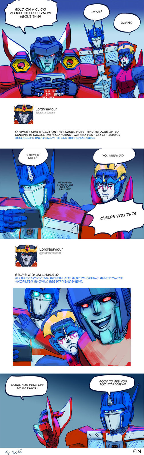 This takes place right after Optimus' arrival in TF Punishment. Transformers belong to Hasbro etc.