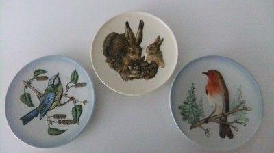 Vintage 3 Szt Talerze Rodental West Germany 6835435180 Oficjalne Archiwum Allegro Vintage Decorative Plates Plates