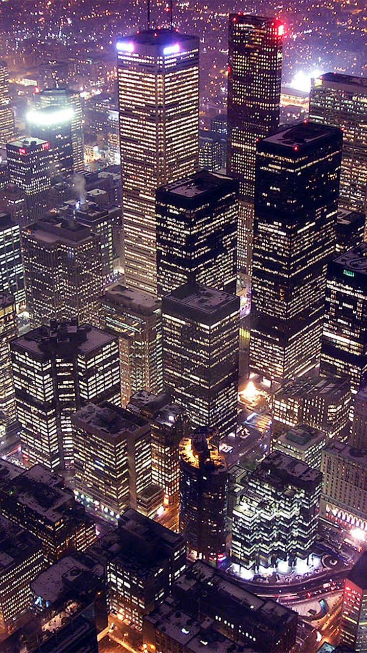 City At Night Lights Iphone 6 Wallpaper City Wallpaper City Iphone Wallpaper Night City