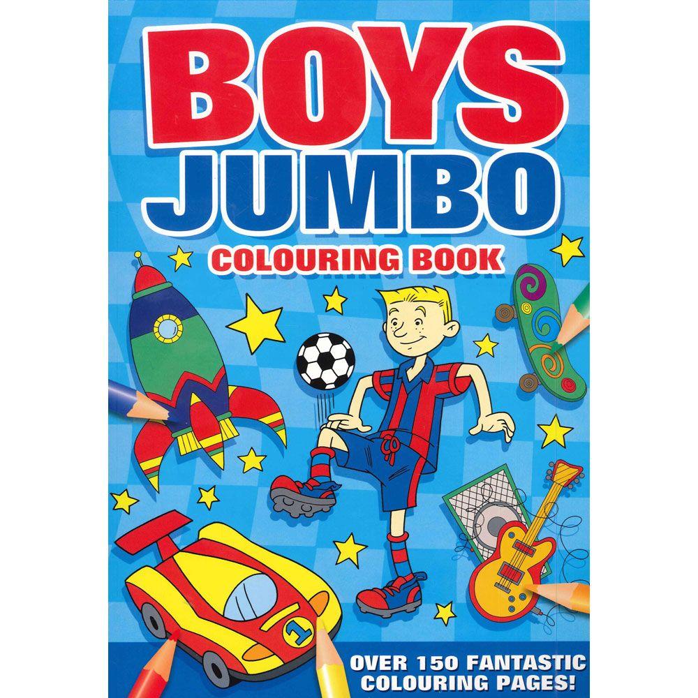 Boys Jumbo Colouring Book By Alligator Books Childrens Colouring Book Coloring Books Toddler Coloring Book