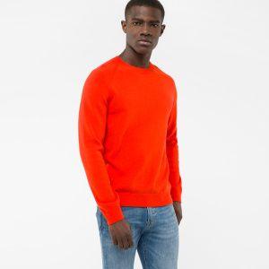 77675bb2c Paul Smith Men s Red Merino-Wool Raglan-Sleeve Sweater