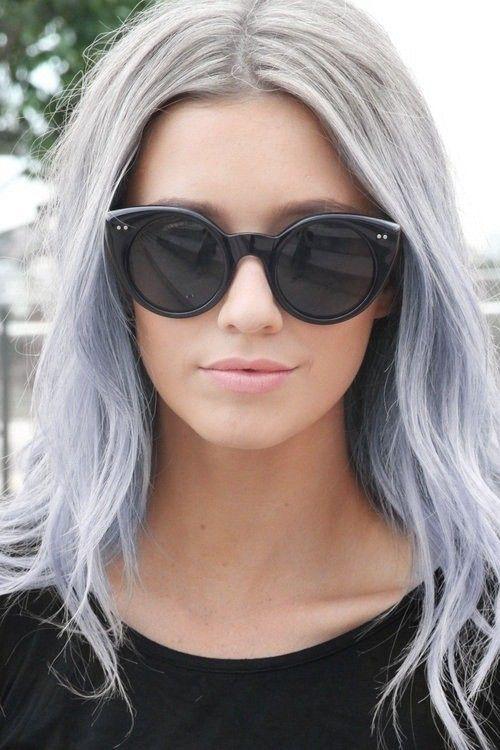 Silver Hair: 30 Silver Hairstyle Ideas | Ombre hair dye, Hair dye ...