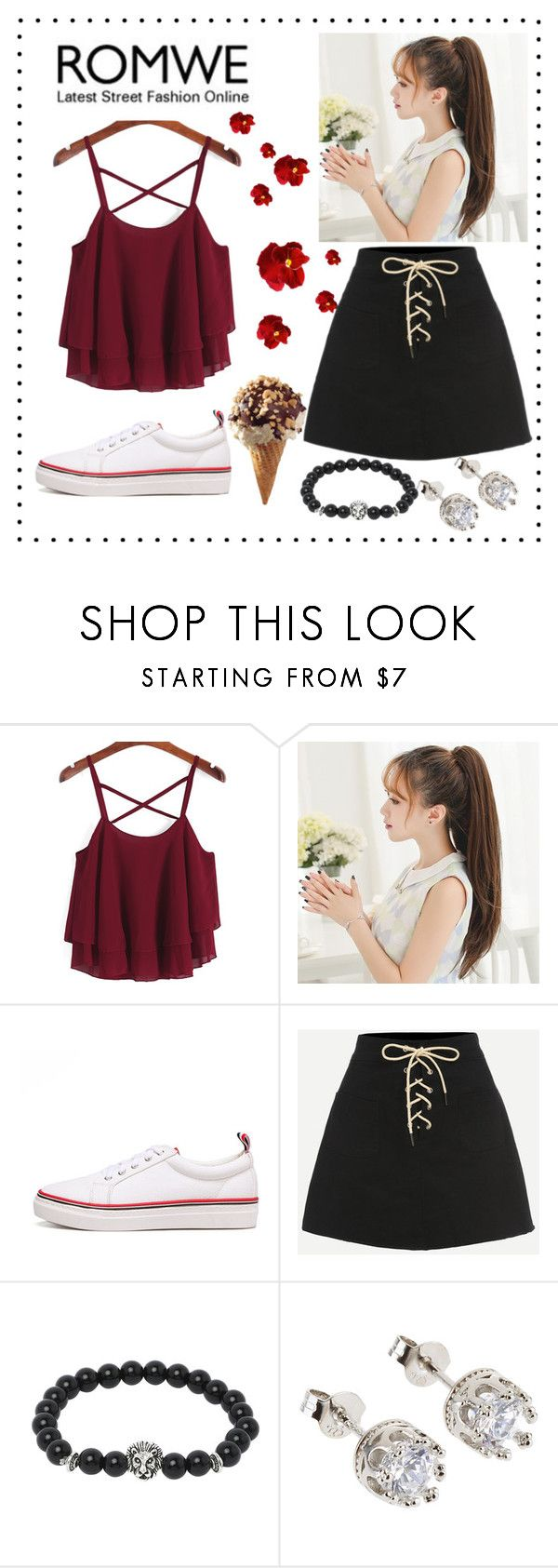 """""""ROMWE"""" by faavequeen ❤ liked on Polyvore"""