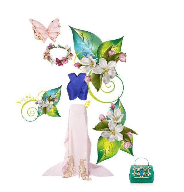"""Spring mood is on"" by jglammy ❤ liked on Polyvore featuring Carven, Rosie Assoulin, Delpozo, Sophia Webster, Stephen Webster, Topshop, carven, sophiawebster and RosieAssoulin"