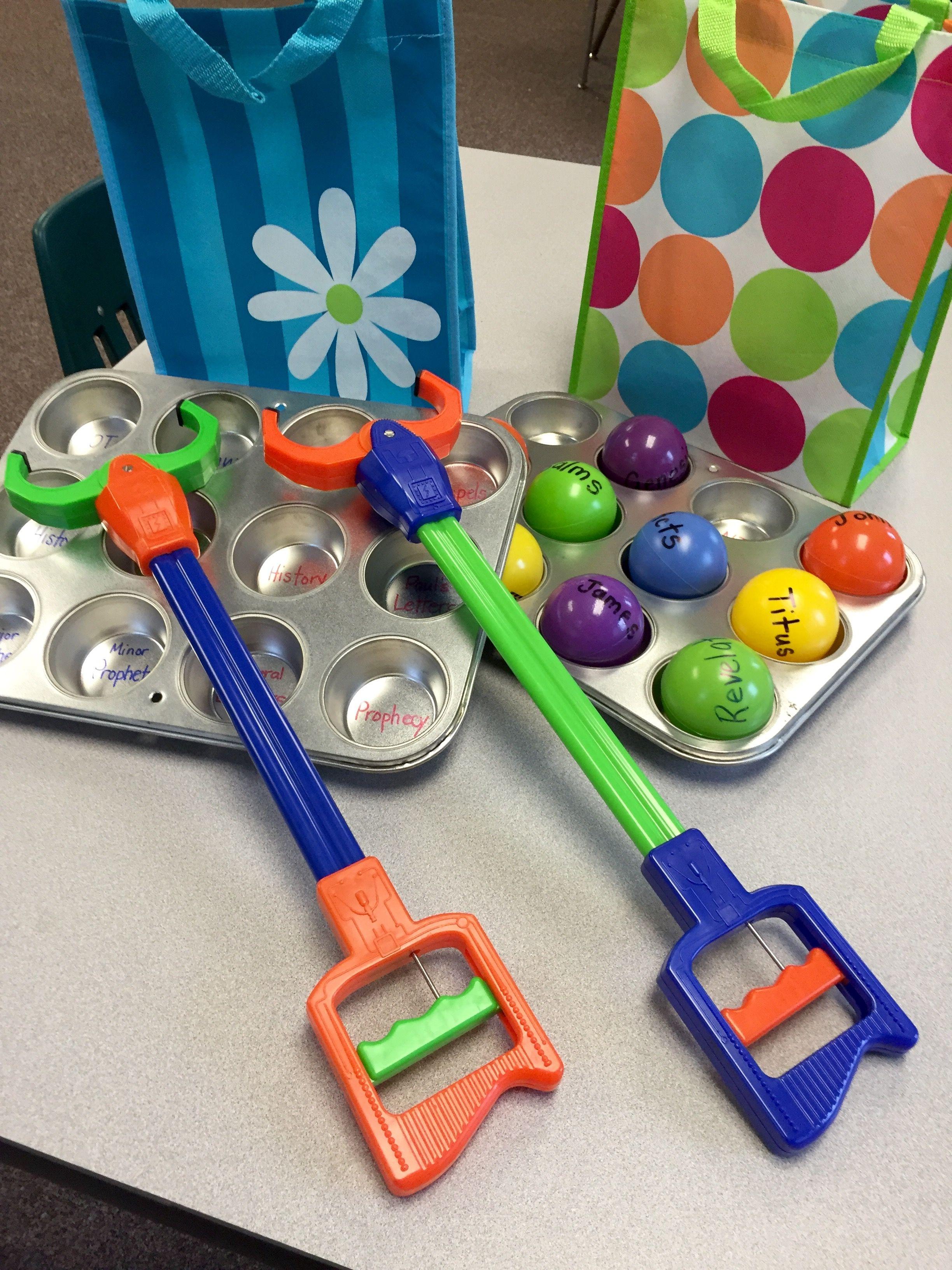 Bible Skills Game Grab a Book Sunday school games