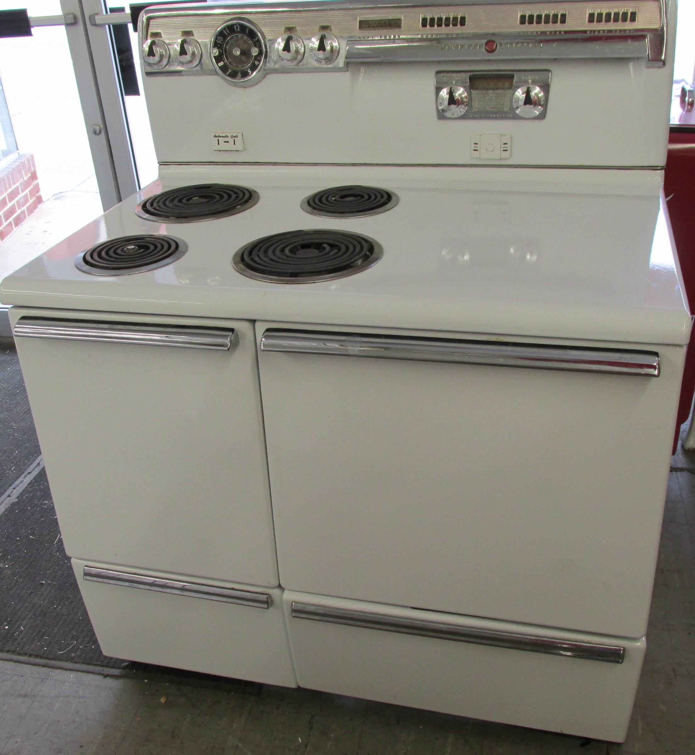 1955 ge double oven electric stove kitchen oven double oven kitchen vintage appliances