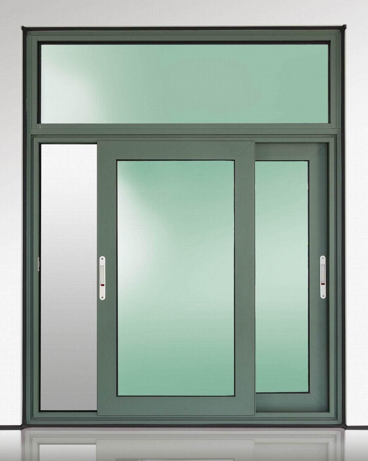 two panels aluminum sliding glass window Guangxi Fumeiyao Energy