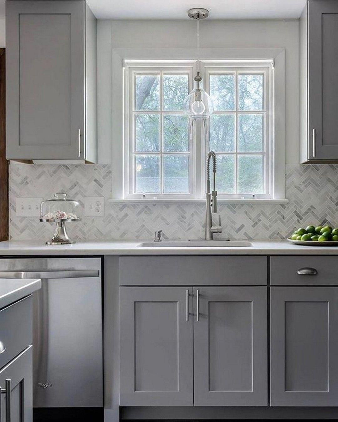 Gray and white are seasonal favorite kitchen cabinet ...