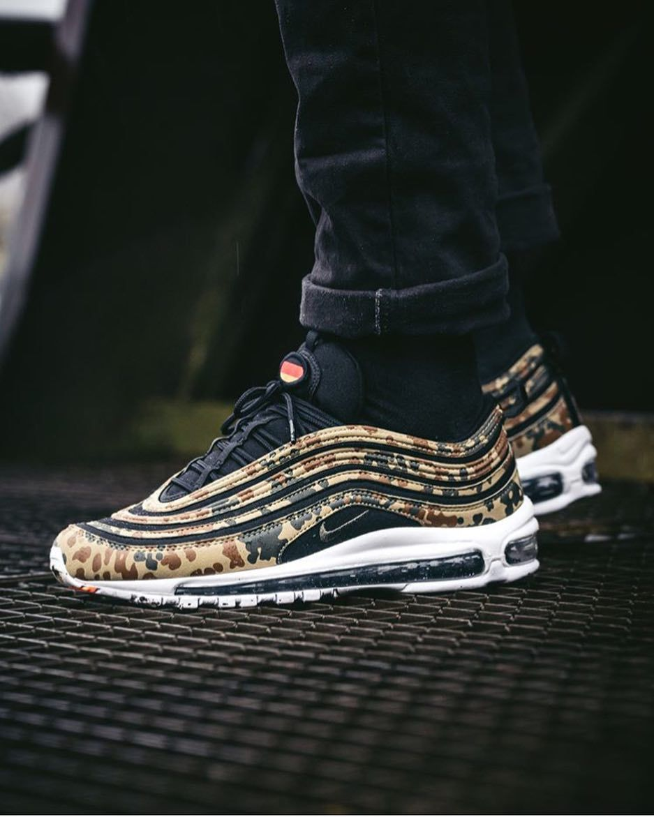 26b2b78f4f The Air Max 97 craze continues! Nike will release a set of country-specific  camo-print sneakers. The German camo-print Air Max 97 will be available at  ...