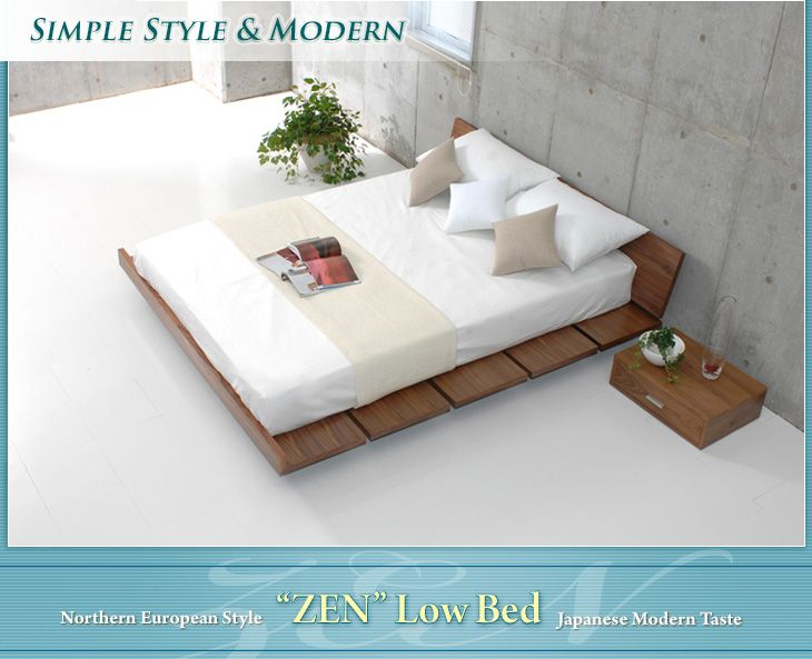 Casa Hils Only Semi Double Bed Semi Double Size Zen Low Bed Frame