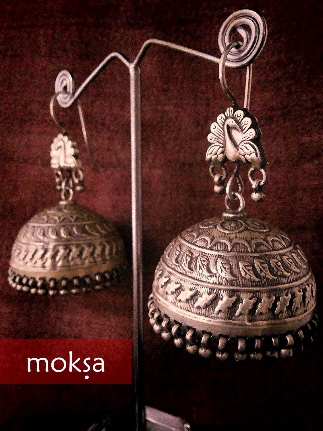 Antique SIlver Jhumkas Jewellery Collection Antique