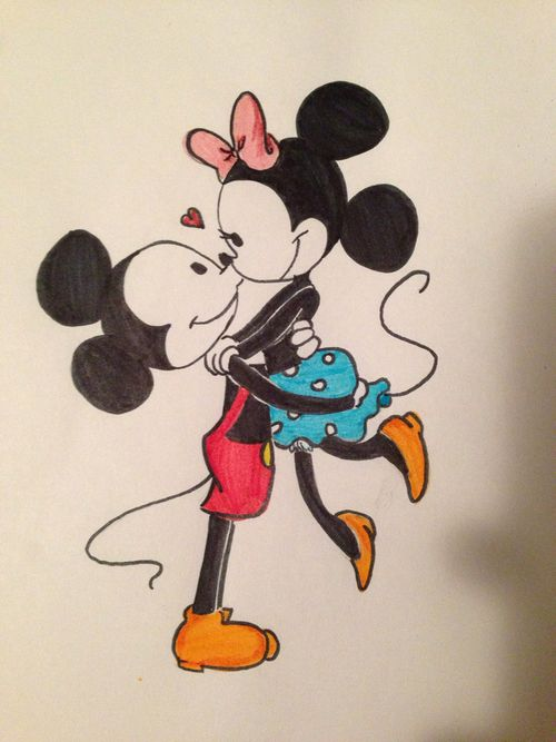 Mickey & Minnie Mouse drawing | Drawings // Art ...
