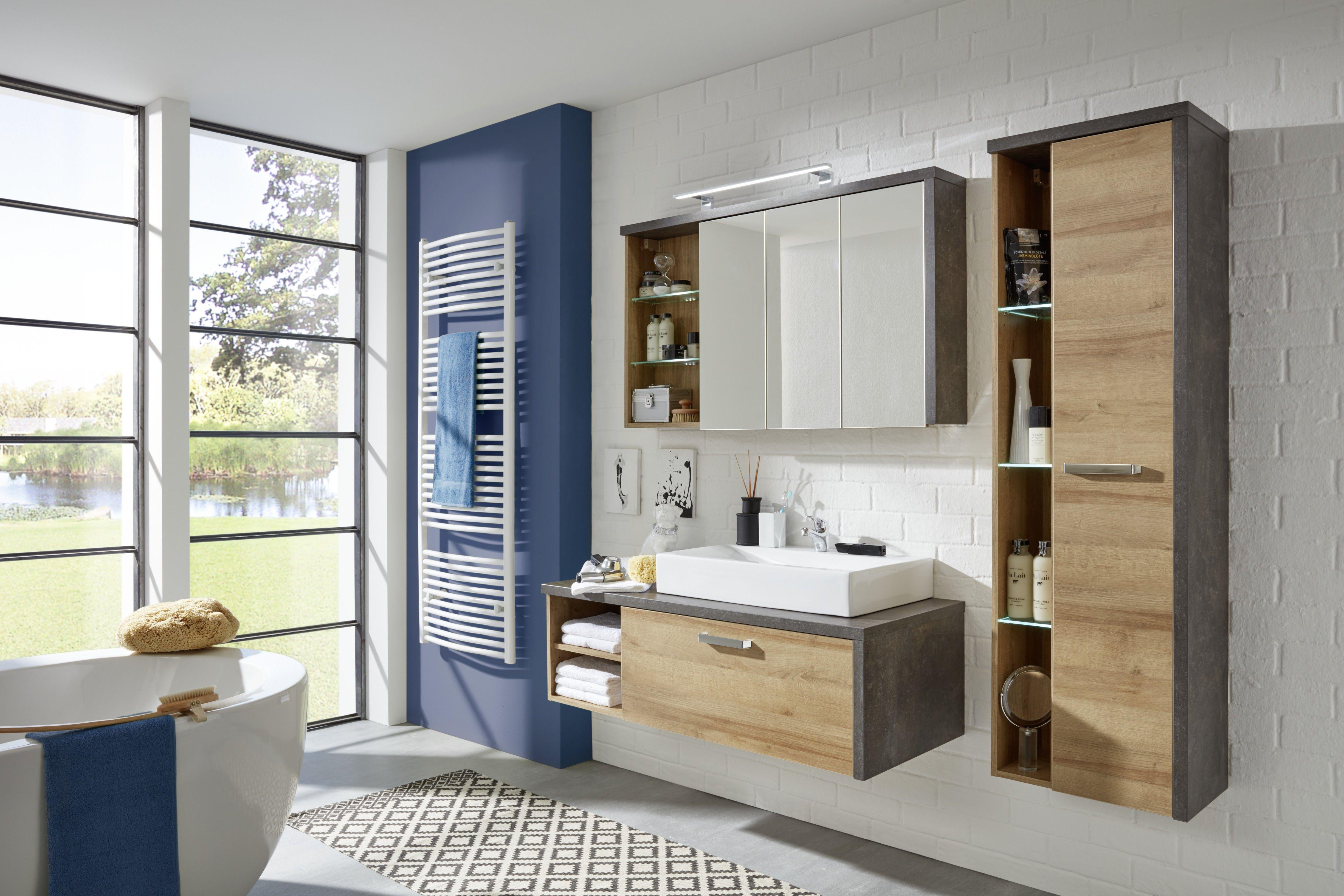 Bad Dunkel badezimmer eiche riviera honig beton dunkel woody 93 01141 holz