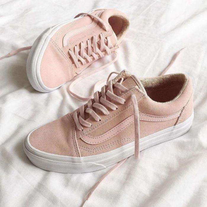 vans femme rose pale