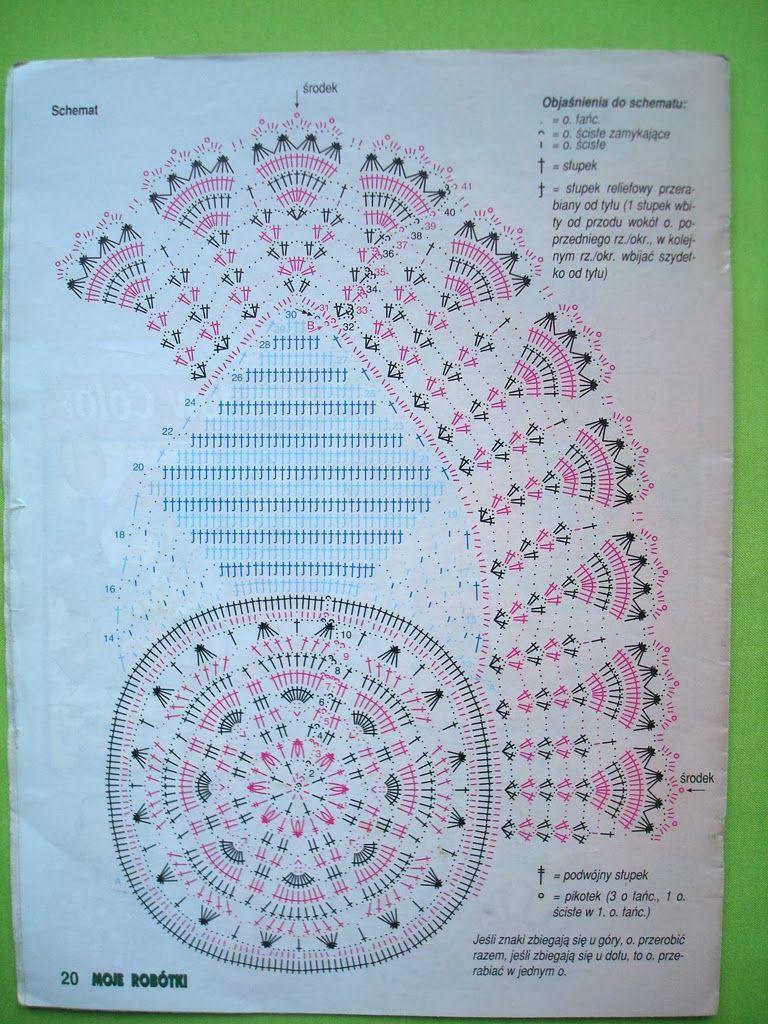 Польские салфетки крючком схема #4