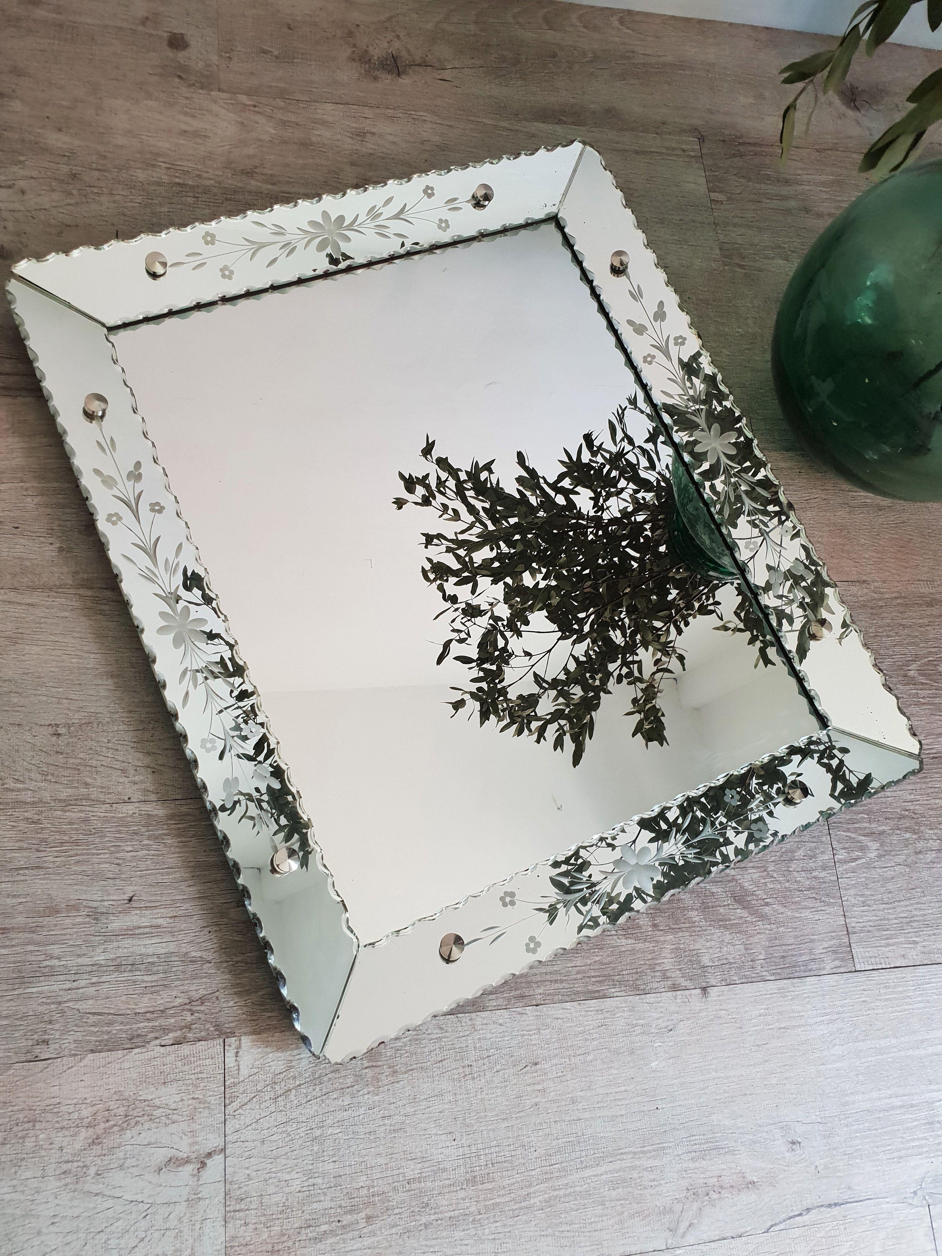 ancien miroir art deco