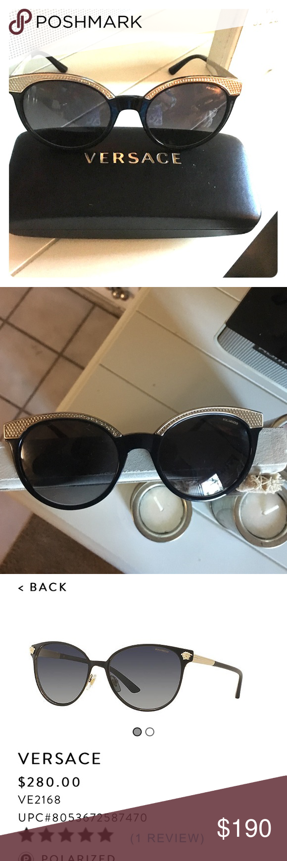 c6dc59753c Authentic NWT Versace Polarized Sunglasses Genuine Versace sunglasses from SUNGLASS  HUT