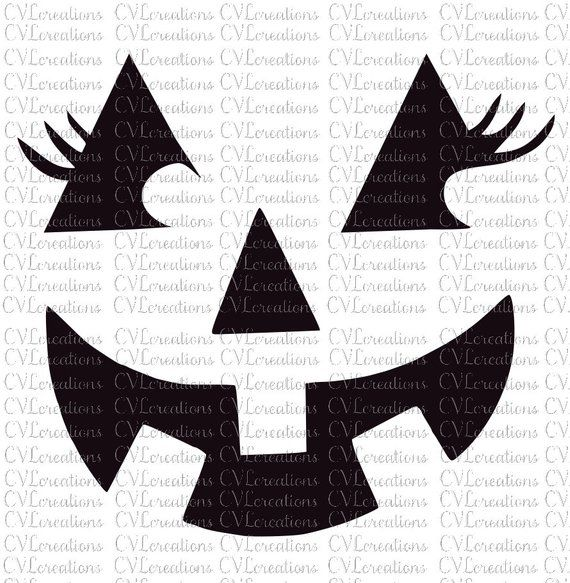 Pumpkin Face With Eyelashes Png Svg Dxf Pumpkin Faces Pumpkin Face Templates Pumpkin Carving Templates