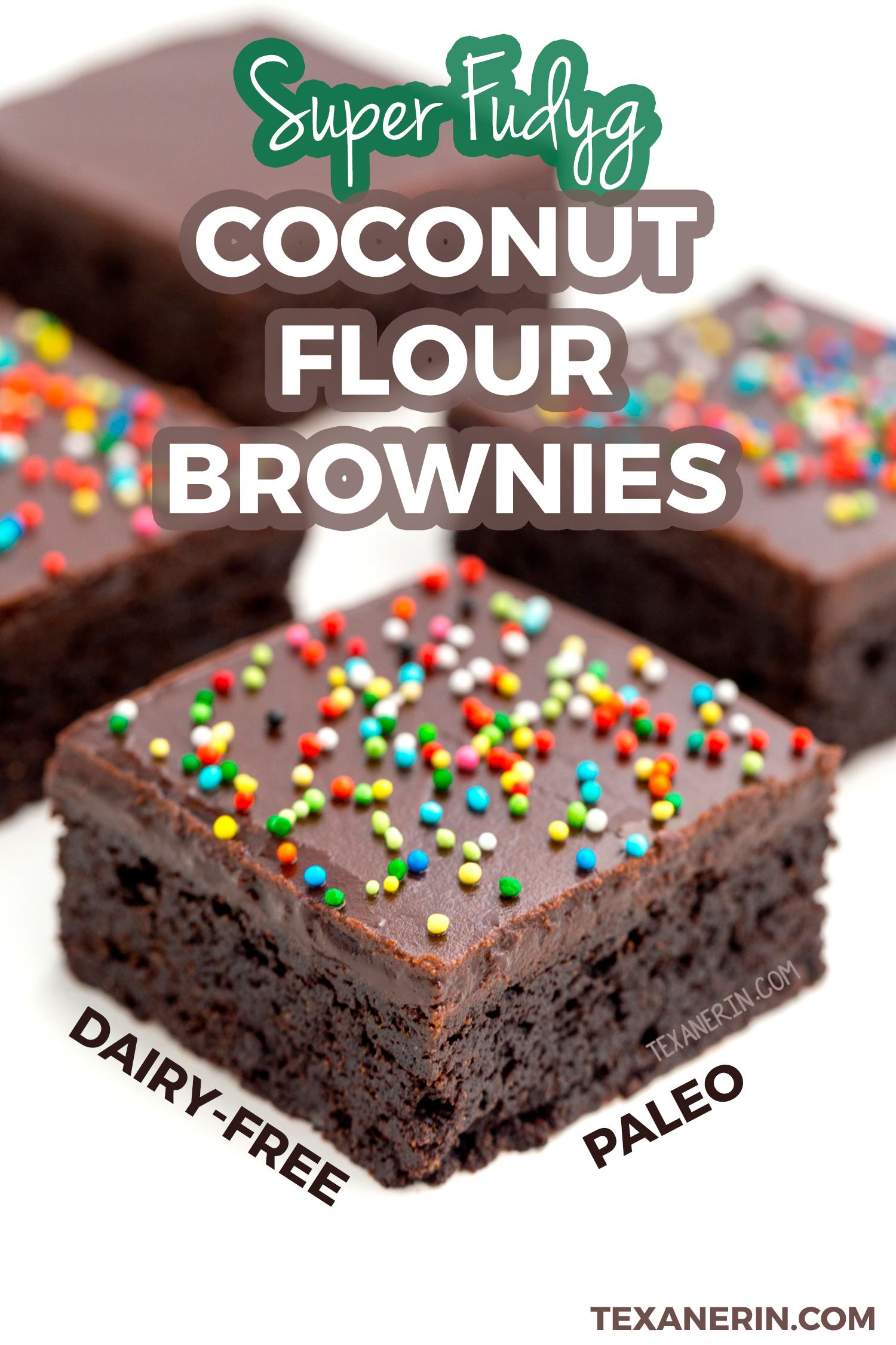 These Amazing Coconut Flour Brownies Are Super Fudgy And Are Also