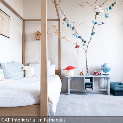 Dekoideen für das Kinderzimmer | Kleine bäume, Bommel und Girlanden | {Dekoideen kinderzimmer 45}