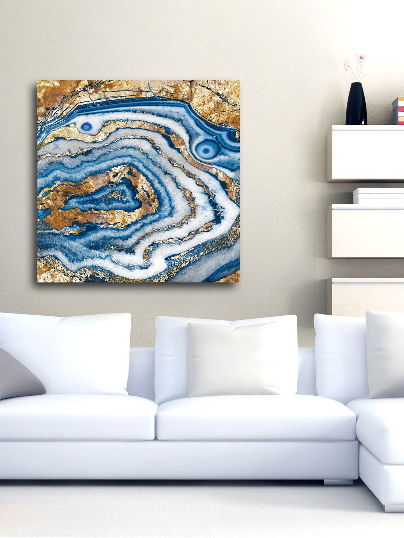 Bleu agate canvas by oliver gal at gilt dream home pinterest