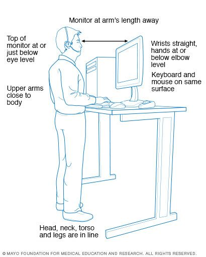 On Your Feet Set Up A Standing Workstation Standing Work