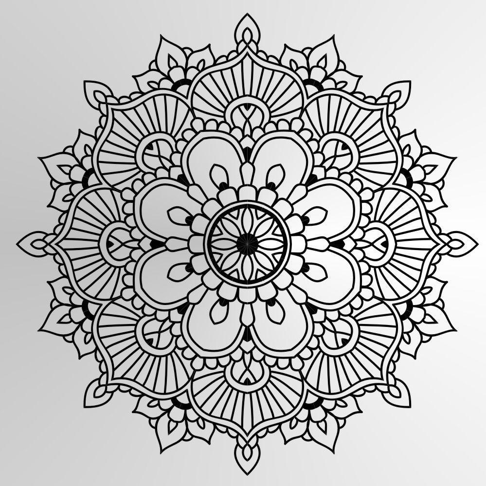 Mandala Big Grossen Wiederverwendbare Schablone Wand Dekor Dekoration Runde Medaillon M6 Ebay Mandala Malvorlagen Einfaches Mandala Mandala Ausmalen