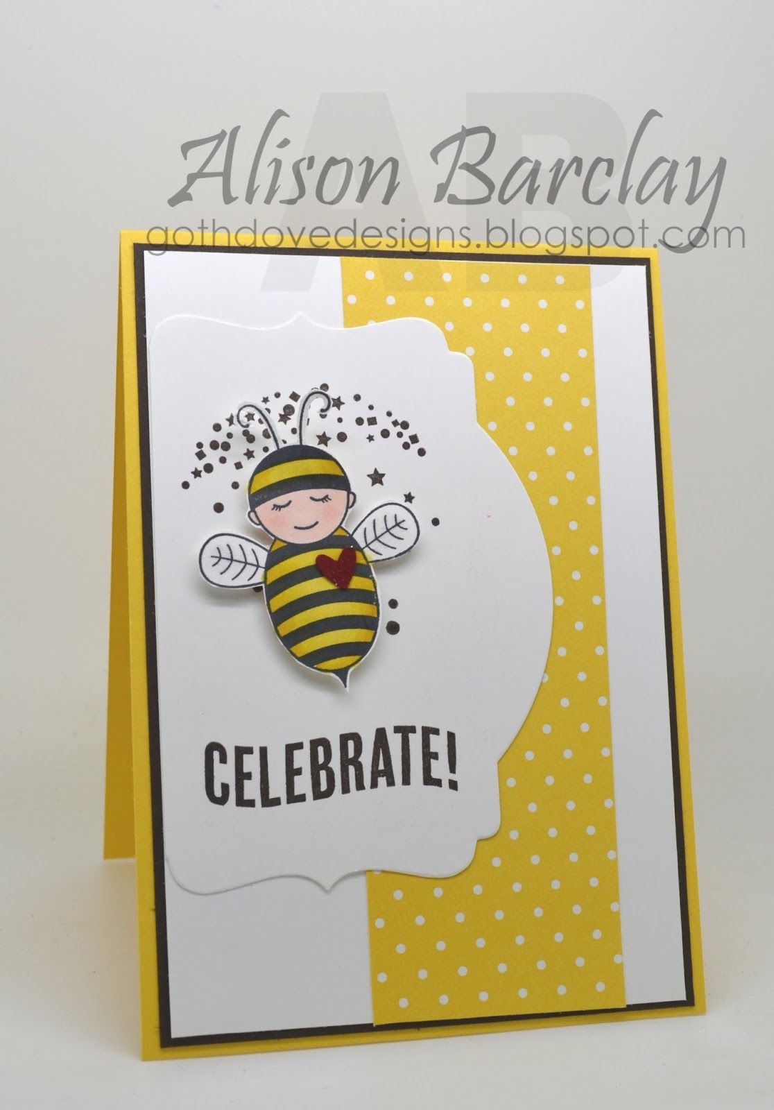Gothdove Designs - Alison Barclay Stampin' Up! ® Australia : Stampin' Up! Australia - Color Coach Card #95 - Baby Bumblebee