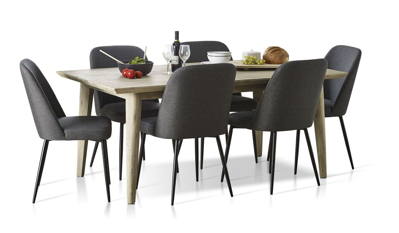 Jenson 7 Piece Dining Suite With Indy Chairs Dinign Dining