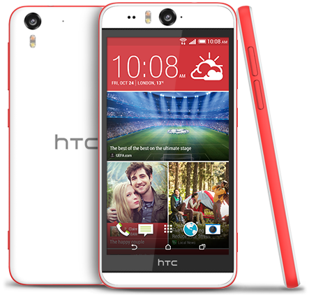 HTC Desire EYE CORAL RED i want to have it so badly ! looks like iphone but i don't care, the camera is amazing *_*  maybe in 2 months when there's my birthday?
