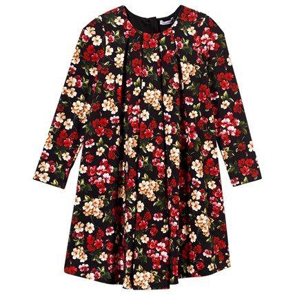 Floral Jersey Long Sleeve Dress