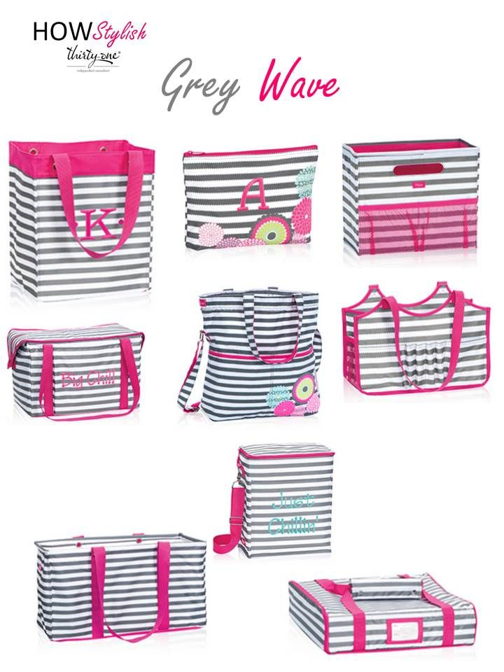 Grey Wave -- Spring 2015 Thirty-One.  Created by HOWStylish, independent consultant.