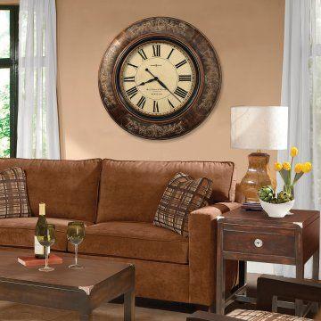Howard Miller Le Cau 37 25 In Wall Clock Hayneedle Wood Frame With Large Clocksliving Room