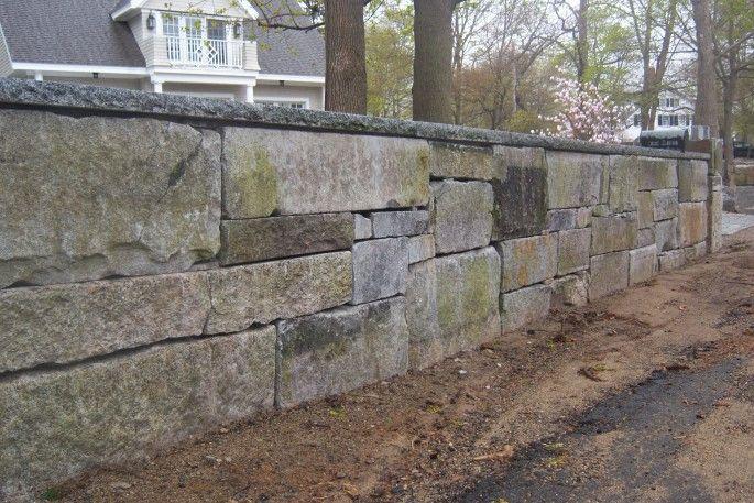 Building A More Unique Granite Block Retaining Wall Concrete Retaining Walls Stone Blocks Stone Farms
