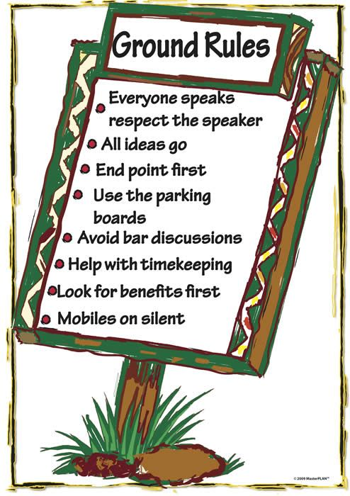 GroundRulesA1_Colourjpg (494×700) Teaching Visuals Pinterest - effectively facilitate meeting