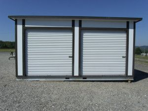 Mini storage building kits troy metal buildings mini for Sheds and storage units