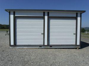 Mini storage building kits troy metal buildings mini for Prefabricated outdoor buildings
