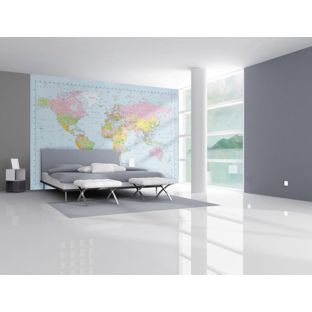 1Wall Map Of The World Wallpaper Mural From Homebasecouk