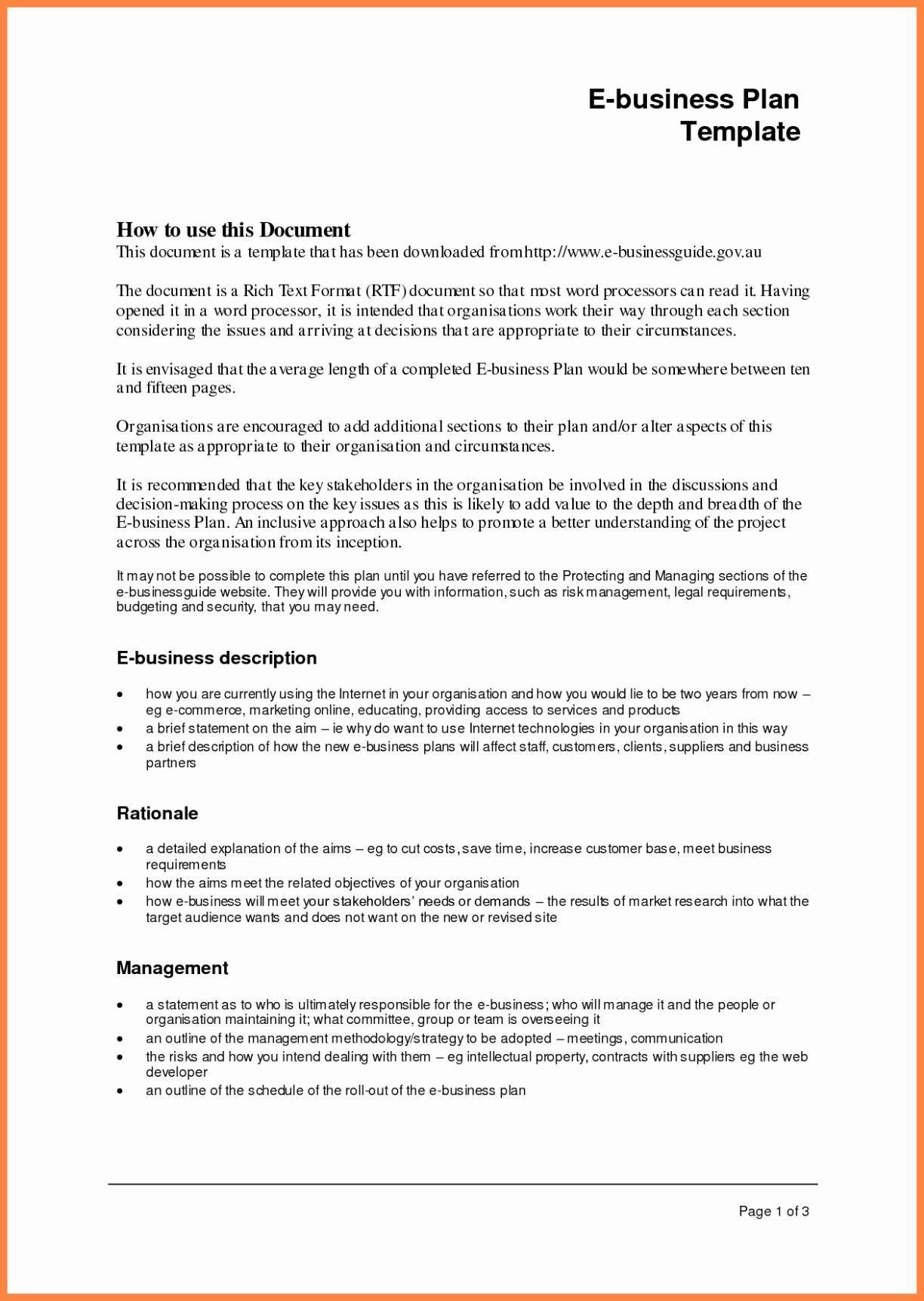 2 Page Business Plan Template proposal for services doc