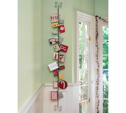 christmas card holder from Pottery Barn We use this all year long