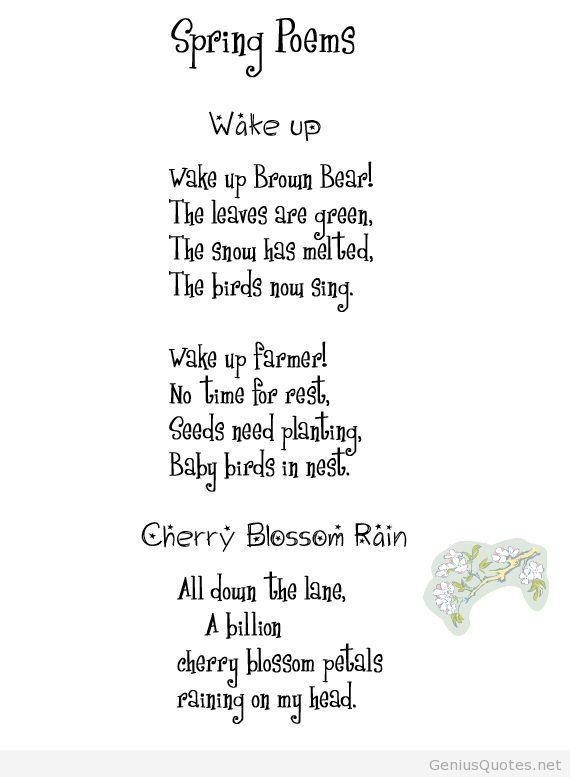 Spring Poems That Rhyme 2