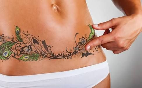 d3ff67f443eae tummy tuck scar cover tattoo - Google Search | Tattoos | Tattoos to ...